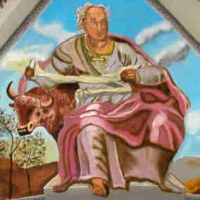 Saint Lucas Calendrier.Calendrier Des Saints Octobre