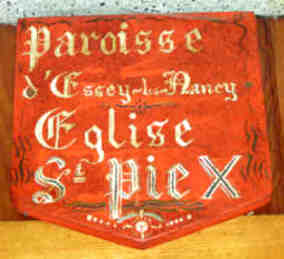 Paroisse st Pie X-Essey Nancy : blason